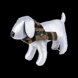 bufanda para perros a rayas marrones