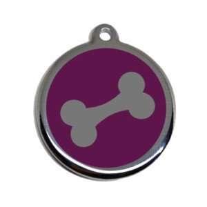 Placa para mascota grabada de acero inoxidable