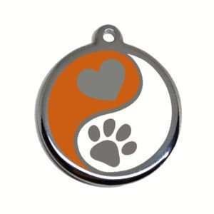 Chapa identificativa para mascota de acero inoxidable