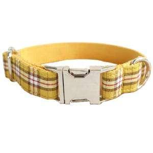 collar para perro personalizado cuadros limon
