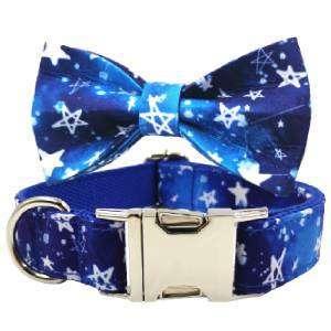 collar perro y pajarita stars