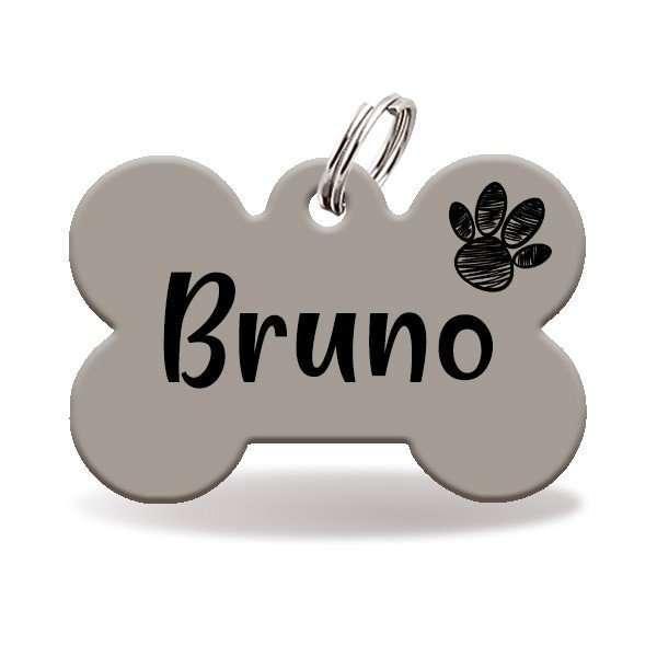 chapa personalizada para perro